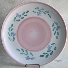 Caleca Pink Garland Dinner Plate Italy Italian Pottery