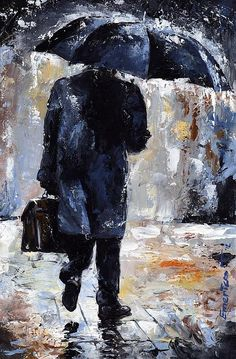 Rain Day #19 by Emerico Imre Toth - Rain Day #19 Painting - Rain Day #19 Fine Art Prints and Posters for Sale