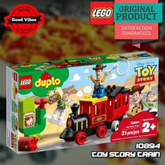 LEGO 10894 Toy Story Train DUPLO Mainan Kereta Api Anak Original #thekingbricks #theking #thekingid #kingbricks #gvonline #uhappyihappy #tokolegoterpercaya #tokomainanoriginal #lego10894 Lego Duplo Sets, Lego City, Lego Star Wars, Toy Story, Pixar, Avengers, Toys, Activity Toys, Pixar Characters