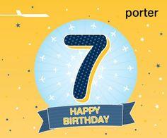 Porter Airlines : 7 years ! Porter Airlines, Happy B Day, Happy Birthday, Happy Brithday, Happy Brithday, Happy Aniversary, Urari La Multi Ani, Happy Birthday Funny, Happy Birth