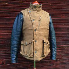 Freewheelers Winter Aviator's Vest. #panchoandlefty #freewheelers #madeinjapan…