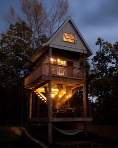 I wish I had a tree house when I was little!