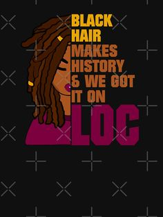 """Locs Black History Month Hair"" Lightweight Sweatshirt by blackartmatters Black Girl Aesthetic, Brown Aesthetic, Black Love Art, Black Is Beautiful, Black Girl T Shirts, Black Girl Problems, Black Lives Matter Shirt, Magic Quotes, Black Girl Cartoon"