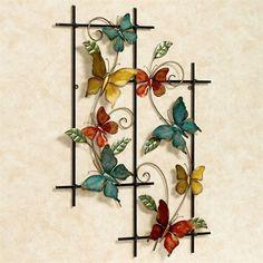 Butterfly Dance Wall Art Multi Warm