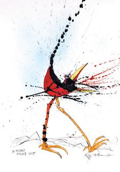 Ralph Steadman illustration – 'Extinct Boids' -- possible tattoo