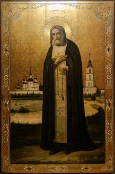 Seraphim of Sarov Classic House Design, Russian Orthodox, Orthodox Christianity, Orthodox Icons, Ikon, Mona Lisa, Saints, Photo Wall, Community