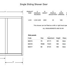 Patio Door Measurements
