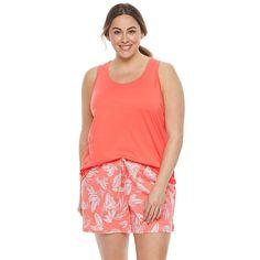 27ad2b67db Plus Size SONOMA Goods for Life™ Pajamas  Crochet Trim Sleep Tank   Sleep  Shorts PJ Set