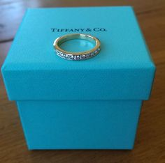 Tiffany & Co Diamond 18ct Yellow Gold Half Eternity Band 0.33tcw G/VS $4550