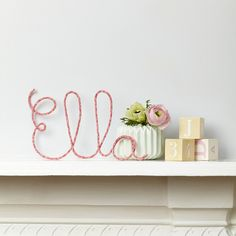 Little Cloud | Glenjade Pink Liberty Name Wire Sign