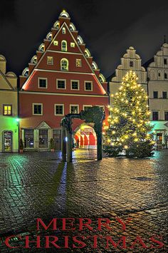 MERRY CHRISTMAS in Weiden, Bavaria, Germany