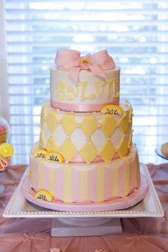 Image detail for -Lemonade Birthday Cake. Sunshine Birthday Parties, First Birthday Parties, 2nd Birthday, Birthday Ideas, Pink Lemonade Cake, Cute Birthday Cakes, Sr1, Summer Cakes, Sweet Caroline