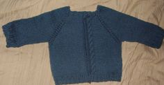 Unbend Cabled Baby Cardigan pattern This sweater is knit in one piece from the top down. There is no seaming as the sleeves are knit in the ...