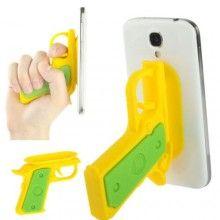 Suporte Gadget Pistola Smartphone - Amarelo 7,99 €