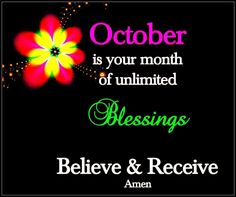 Believe, Blessed, October, Calm