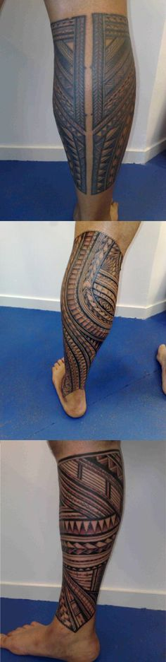 Samoan calf round cover tattoo designs on leg #tattoolicious