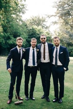 Groomsmen in sunglasses + skinny ties: http://www.stylemepretty.com/2016/02/22/30-must-haves-to-plan-the-ultimate-cool-girl-wedding/