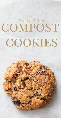 Peanut Butter Compost Cookies ~ with pecans, chocolate chips, coconut, and crushed Chex {naturally gluten-free}