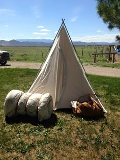 Range tent tipi teepee and a water trough. Jbardcanvasandleather.com | J bar D Leather and Canvas | Pinterest | Water trough & Cowboyinu0027 in style! Range tent tipi teepee and a water trough ...