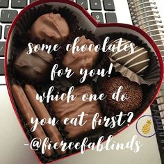 Happy Love Day! Who else loves chocolate- which piece do you want first?! . . . #fiercefablinds #fiercefabohana #loveday #chocolate #valentinesday2018