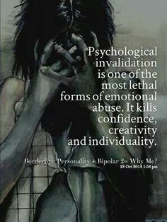 Psychological invalidation