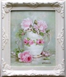 Original Painting - Old English Rose - Postage is included Australia Wide