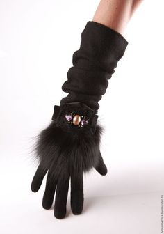 Mitten Gloves, Mittens, Love Like Winter, Black Lace Gloves, Gloves Fashion, Vintage Gloves, Diamond Are A Girls Best Friend, Handmade Accessories, Arm Warmers