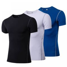Yuerlian Quick Dry Compression Men& Short Sleeve T-Shirts Running Shirt Fitness Tight Tennis Soccer Jersey Gym Demix Sportswear Running Shirts, Gym Shirts, Workout Shirts, Polo Shirts, Running Apparel, Workout Leggings, Sport Direct, T Shirt Sport, 2 Logo