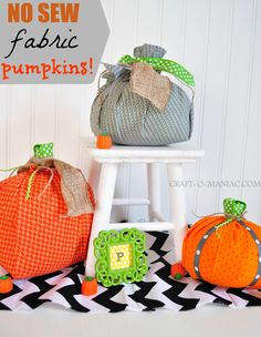 No Sew Pumpkin Tutorial
