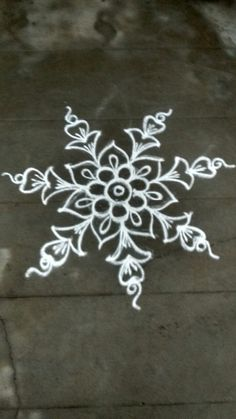 Indian Rangoli Designs, Rangoli Designs Latest, Rangoli Border Designs, Rangoli Designs With Dots, Rangoli With Dots, Beautiful Rangoli Designs, Rangoli Borders, Rangoli Patterns, Rangoli Ideas