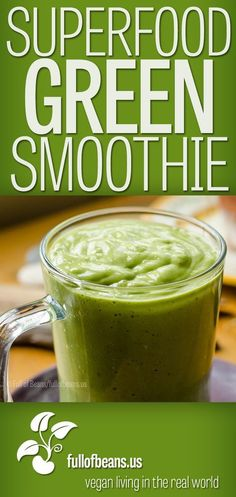 Smoothies! Everyone loves them, right? But it's not just great taste and sweet fruit – a smoothie, particularly this vegan superfood green smoothie, can be a nutritional, cancer-fighting, health-boosting, powerhouse! How awesome is that? Read about it on the blog!