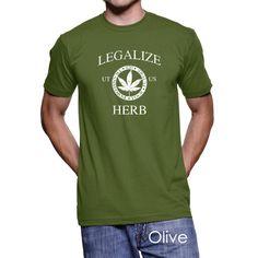 #Utah Legalize Herb Men's T-Shirt #PotTeez