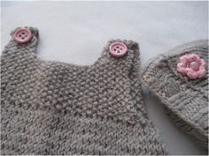 gestrickter 3Teiler, knitting baby dress
