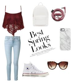 """a sunny day in spring☀️"" by stylebygiuls on Polyvore featuring moda, WearAll, Frame Denim, PB 0110, Uncommon, Forever 21, H&M e Converse"