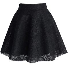 Black Full Lace Skater Skirt - Retro, Indie and Unique Fashion Lila Outfits, Skirt Outfits, Dress Skirt, Dress Up, Cute Outfits, Unique Fashion, Cute Skirts, Mini Skirts, Black Skater Skirts