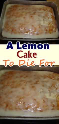 A Lemon Cake To Die For – Page 2 – Best Skinny Recipes cake wedding cake kindergeburtstag ohne backen rezepte schneller cake cake Lemon Desserts, Lemon Recipes, Easy Desserts, Delicious Desserts, Best Lemon Cake Recipe, Lemon Cake Mixes, Def Not, Cake Mix Recipes, Brownie Recipes