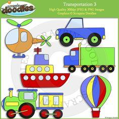 Transportation 3 Clip Art