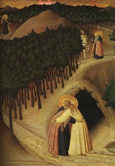 Stefano di Giovanni di Consolo known as il Sassetta, The Meeting of St Anthony Abbot and St Paul the Hermit, 1440