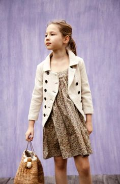 I like this look. Classy, but still kid friendly (eh, maybe with a darker coat).