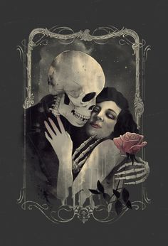 Death and the Maiden, death grim reaper Father Time scythe maid girl woman dance danse macabre skull skeleton