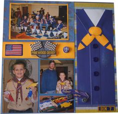 Pinewood Derby Scrapbook Layout