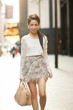 Top :: Marissa Webb, Skirt :: Topshop (old), Bag :: Givenchy, Accessories :: Deborah Lippmann 'Fade to black' polish, bracelet thanks to Lulu Frost