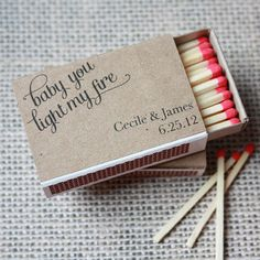 """Printable Match Box Wraps- """"Baby you light my fire"""""""