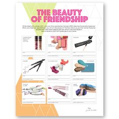 Pop & Glow Beauty of Friendship flier to perfectly go with the new Mary Kay products! Customizable information! Find it on www.thepinkbubble.co!