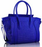 awesome Cobalt Blue Grab Studded Ladies Tote Designer Handbag (13″ x 11″) with PreciousBags Dust Bag