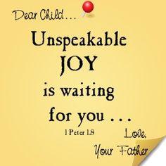 Dear child...