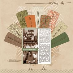 Love how Lynn combined these two templates to create such a festive #thanksgiving #scrapbook page with lots of #storytelling too!