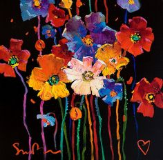 "Simon Bull - ""Living Life To The Full III""  (Acrylic on Canvas)"