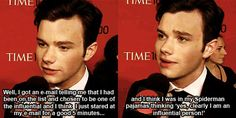 Chris Colfer is my spirit animal I swear