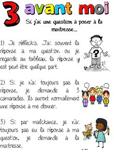 Affichages pour la gestion de classe French Teaching Resources, Teaching French, Classroom Organization, Classroom Management, Learning A Second Language, Core French, French Education, Effective Teaching, Teaching Schools
